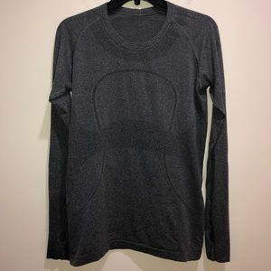 LULULEMON Sz 10 Dark Gray Run Swiftly Tech